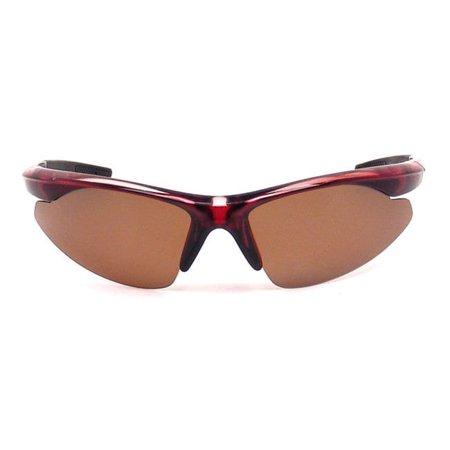 cf9e8d207ac Extreme Optiks - Extreme Optiks  SuperBlade  Polarized Sport Sunglasses  Shiny Black Crystal Brown Polarized Black - Walmart.com