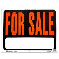 "Hy-Ko Jumbo Plastic For Sale Sign 14.5"" x 18.5"", Orange and Black, 5 Pack (Sp-100)"