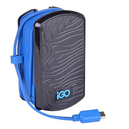 iGo PS00304-0008 Black & Blue Micro USB 2.0 Wall Charger for Smartphones Igo Battery Charger