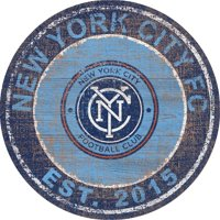 "New York City FC 24"" x 24"" Heritage Logo Round Sign"