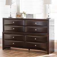 Baxton Studio Pacifico Modern and Contemporary Dark Cherry Brown Finished Wood 8-Drawer Dresser