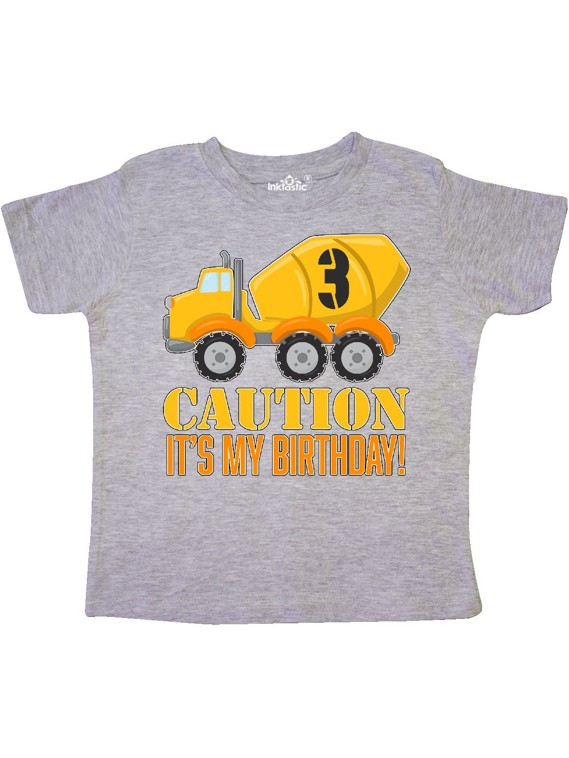 3rd birthday construction truck, cement mixer - 3 years old Toddler T-Shirt
