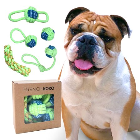 Dog Chew Toys | 5-PACK | Dog Rope Toys | Dog Gifts | Interactive Dog Toys | Puppy Small Dogs | Nontoxic Durable Pet Toy by French -