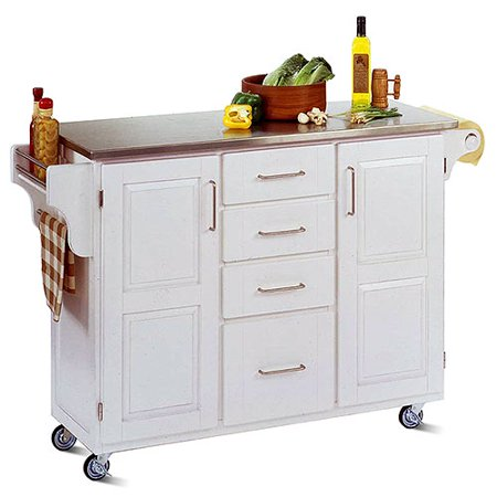 Home Styles Large Kitchen Cart White