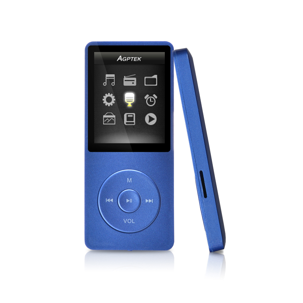 AGPtek MP3 8GB & 70 Hours Playback Lossless Sound Music Player (Supports up  to 64GB) - Walmart.com