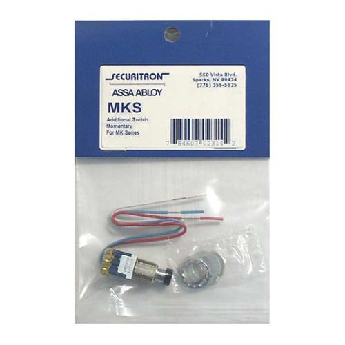 SECURITRON MKS Door Switch,SS,Mfr. No. MK G1609450