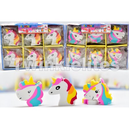 36 Unicorn Erasers Party Favors Bag Fillers Unicornio Teacher Gift Redemption - Party Prizes
