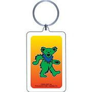 - Grateful Dead Dancing Bear - Green Plastic Key Chain Multi