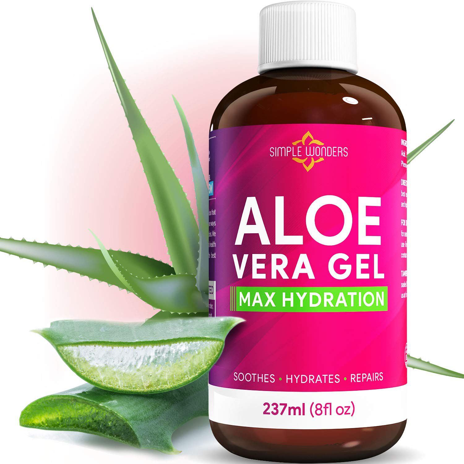 100 Pure Aloe Vera Gel Organic Maximum Hydration For Face Skin And Hair From Plant