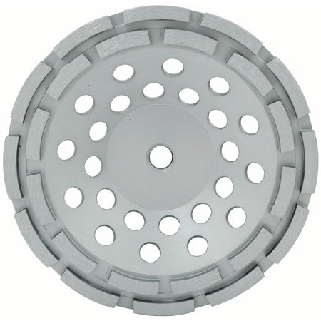 Lackmond 7-Inch Double Row Segmented Diamond Grinding Cup Wheel with 5/8-11 Nut