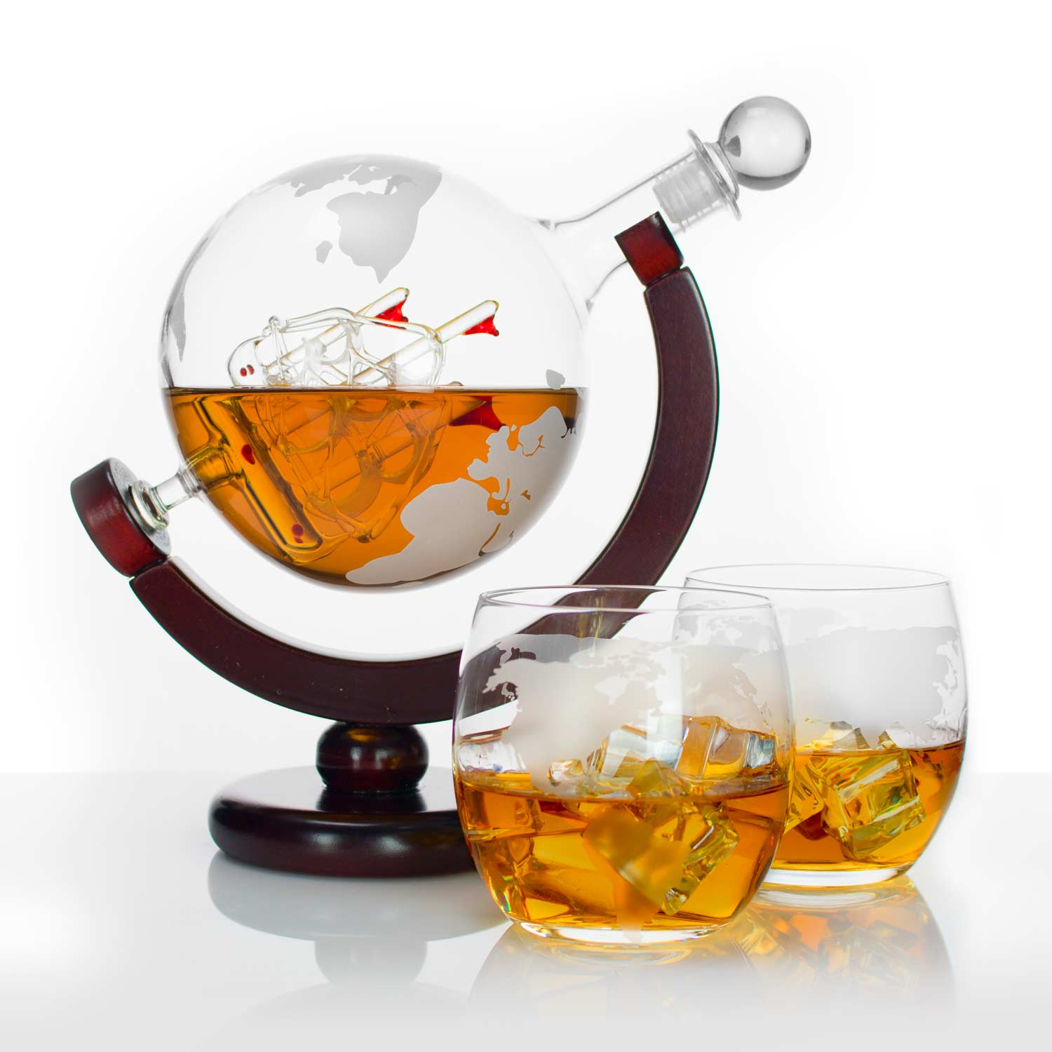 Atterstone Whiskey Decanter Set with Whiskey Stones Gift Set ...