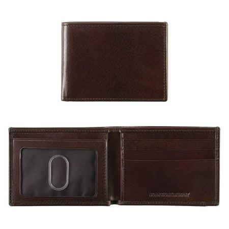 Italian Leather Super Slim Wallet - Mahogany Super Slim Leather