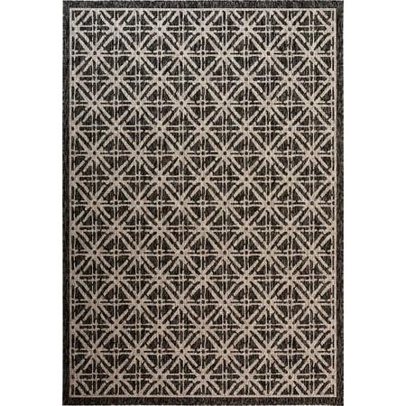 Cambridge Floor - Fab Habitat Essentials Indoor/Outdoor Weather Resistant Floor Mat/Rug Cambridge - Diamond (5ft 2in x 7ft 5in) - Terrace