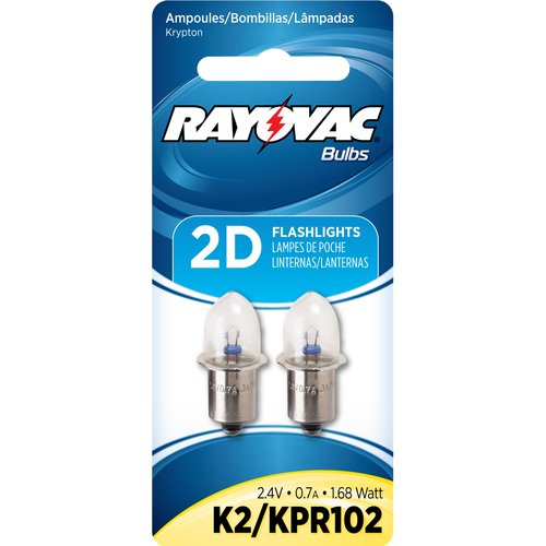 Rayovac K2-2 2Pk. Krypton Light Bulbs 2D