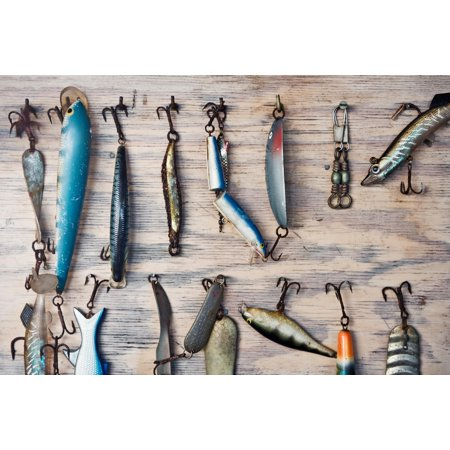 (Trolling Spoons Lures Fishing Tackle Display Photo Art Print Poster 18x12 inch)