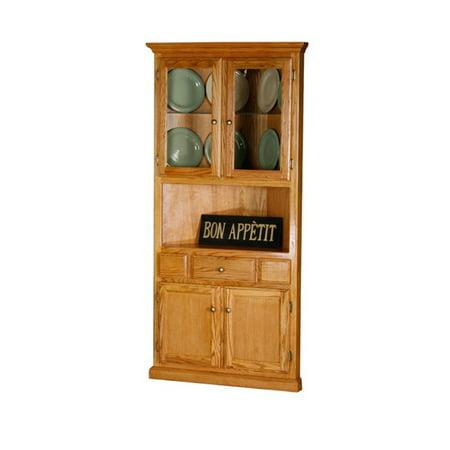 Eagle Furniture Classic Oak Corner Dining Buffet with Hutch ()