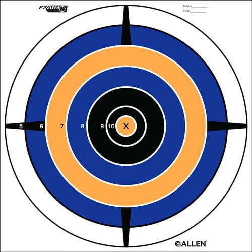 Allen Cases EZ Aim Bullseye Target (12 per pack) SKU: 15205 with Elite Tactical Cloth by Allen Cases