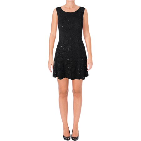 Connected Apparel Womens Petites Lace Sequined Cocktail (Best Petite Clothing Stores)