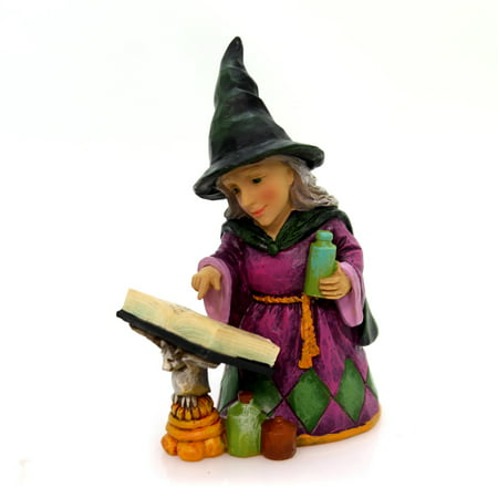 Jim Shore WITCH POTION SPELL BOOK MINI Polyresin Halloween 4058851 - Jim Shore Halloween Cats