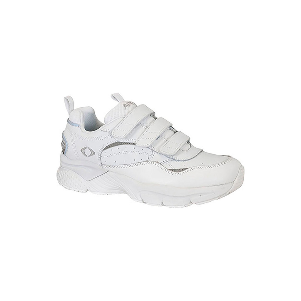 Aetrex Triple Strap Men's White Walking Shoe by Aetrex