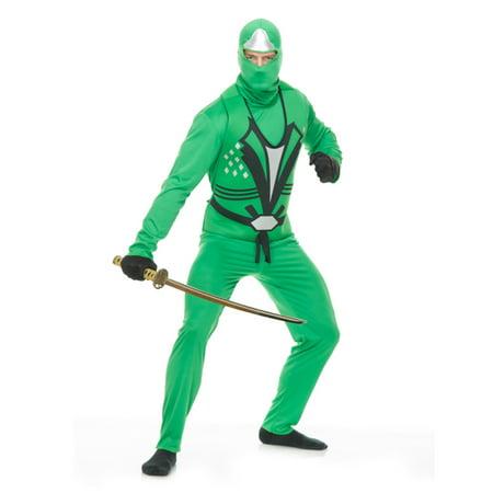 Adult's Mens Jade Green Ninja Avenger Series 2 Martial Arts Costume (Martial Arts Costumes)