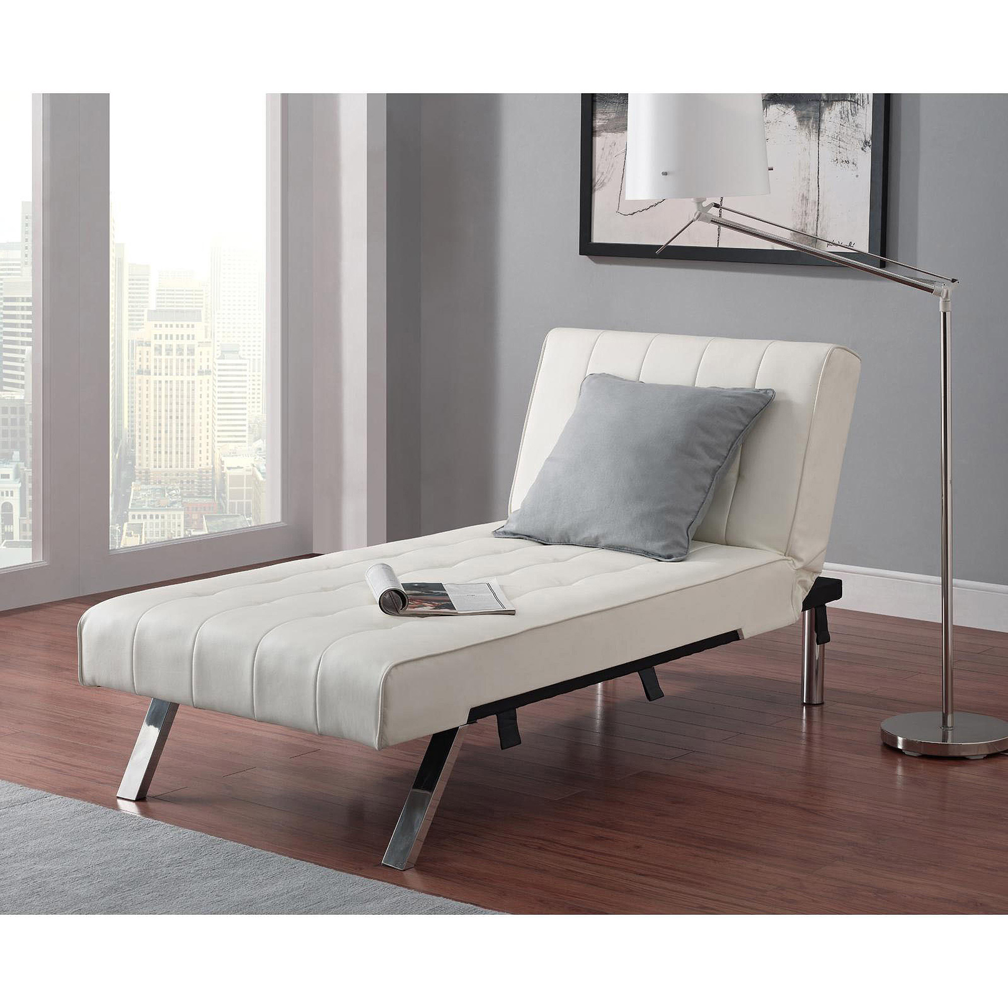 Julia Futon Chaise Lounger, Black   Walmart.com