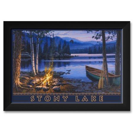 (Stony Lake Framed Art Print by Darrell Bush. Print Size: 12