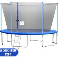 12FT Trampoline With Enclosure Net Ladder Outdoor Fitness Trampoline PVC Spring Cover Padding For Children And Adults