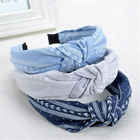 Hidden Leaf Village Headband (Moderna Women Cute Cloth Knotting Fashion Leaves Wide Hairband Headband Hair)
