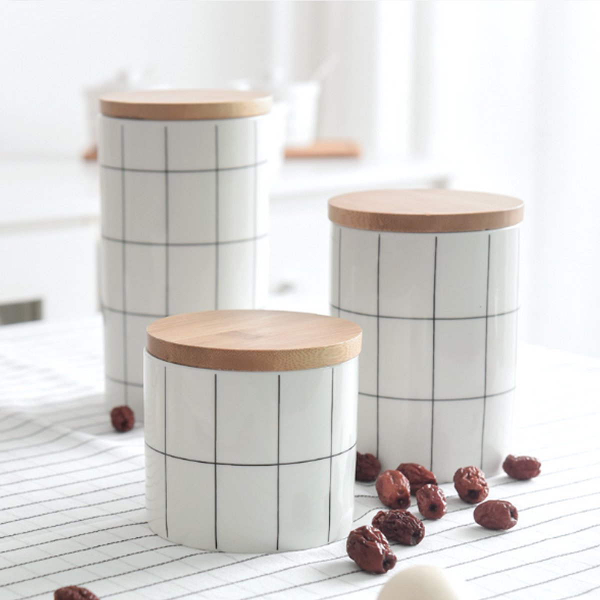 Ceramic Tea Coffee Sugar Food Storage