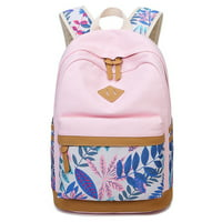 Canvas Backpack, Coofit National Style Practical School Backpack Casual Bookbag Travel Backpack for Teens Kids Student