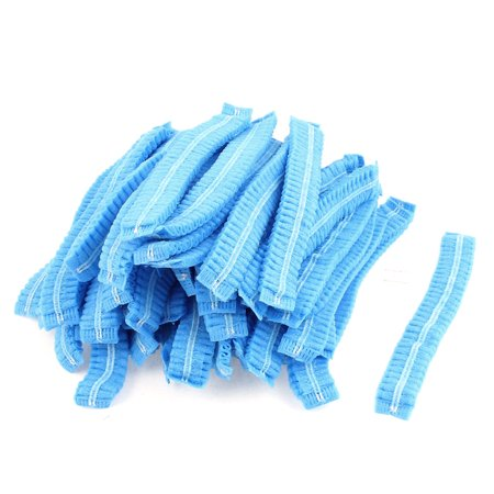 Bouffant Mini (Unique Bargains 100Pcs Elastic Band Disposable Bouffant Caps Hair Cover Shower Caps)