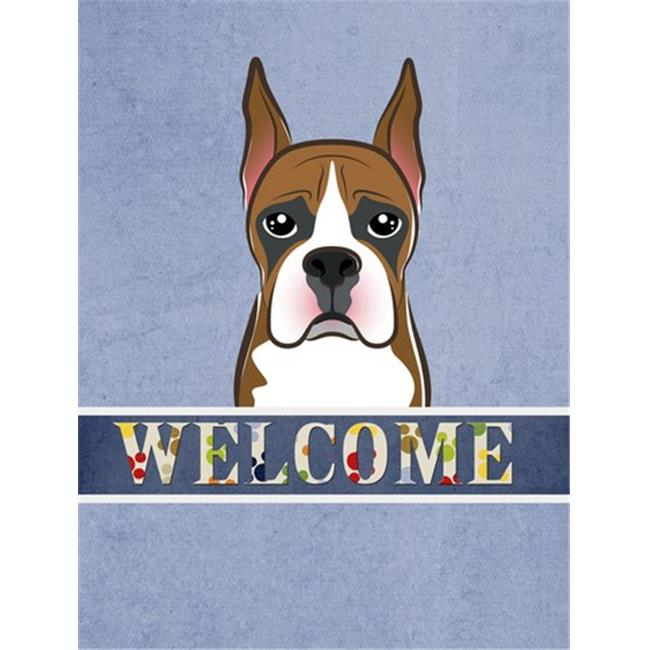 Carolines Treasures BB1409CHF Boxer Welcome Flag Canvas House Size - image 1 of 1
