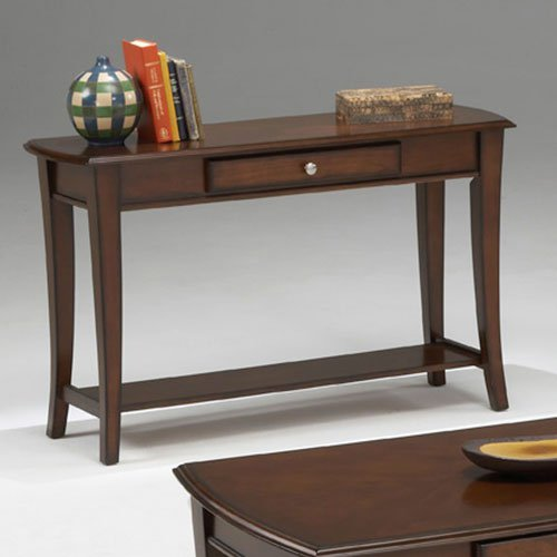 Bernards Broadway Cherry Console Table