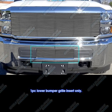 Fits 2015-2018 Chevy 2500HD/ 3500HD Lower Bumper Billet Grille Insert #C66319A