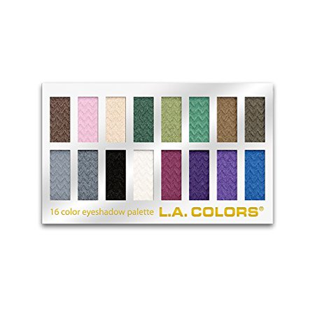L.A. Colors 16-Color Eyeshadow Palette, Smokin'