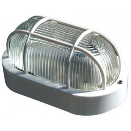 Dabmar Lighting W2020-LED9-W 9W & 120V LED Lexan Oval Cage Wall Fixture with Glass Lens -
