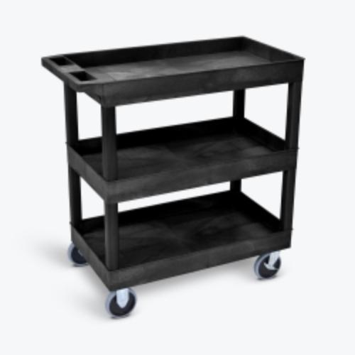 Luxor Heavy-Duty 3-Shelf Tub Cart