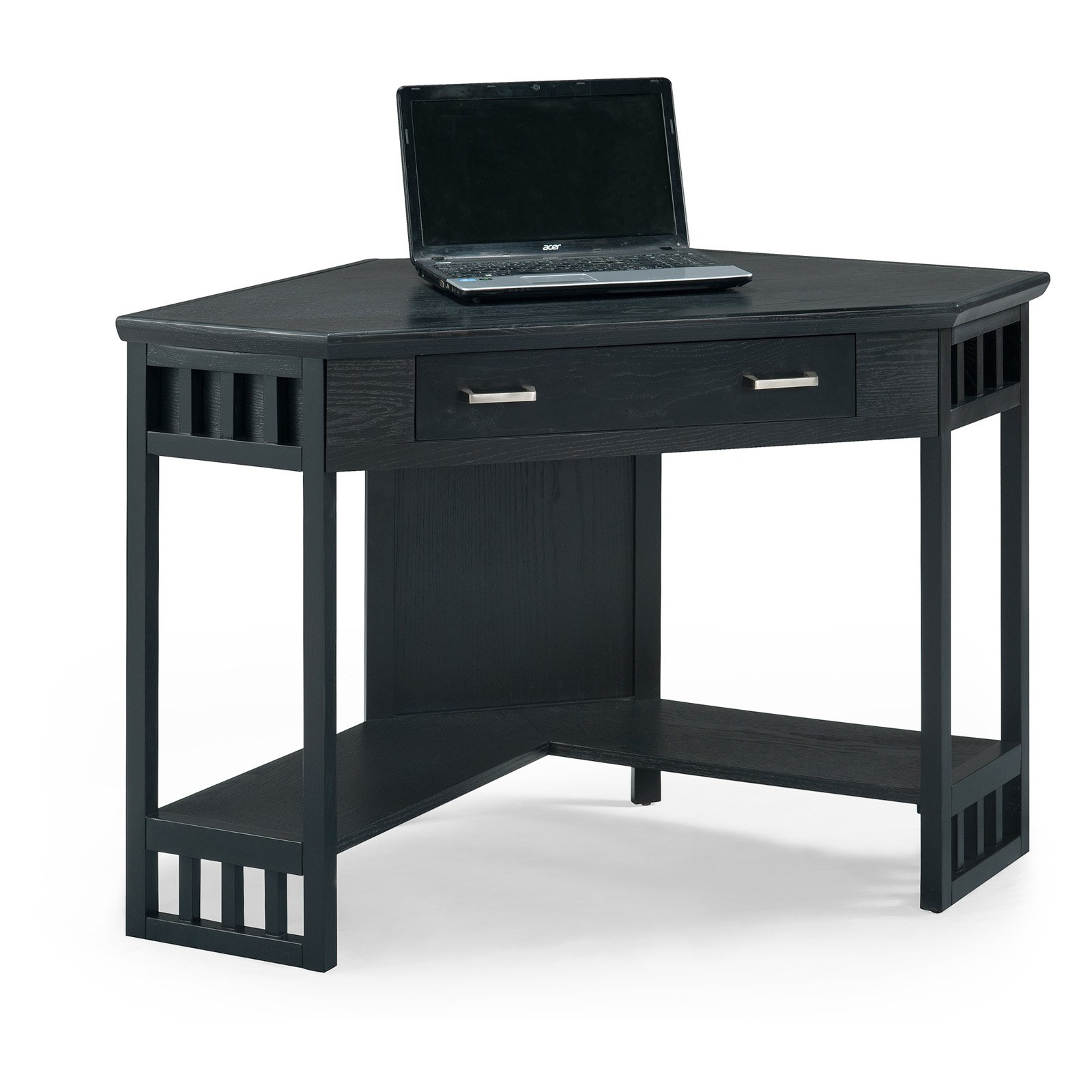 Leick 48 in. Corner Computer Writing Desk Black by Leick Furniture