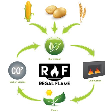 Regal Flame Premium Ventless Bio Ethanol Fireplace Fuel - 1 (Best Ethanol Fireplace With Glasses)