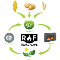 Regal Flame Premium Ventless Bio Ethanol Fireplace Fuel - 12 Quart