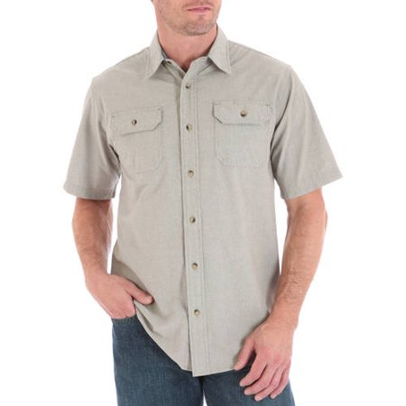 12583532 Wrangler - Big Men's Short Sleeve Shirt with Pencil Pocket - Walmart.com