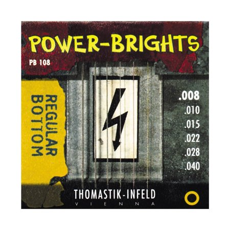 Round Wound Strings - Thomastik-Infeld PB108 Electric Guitar Strings: Power-Brights 6 String Magnecore Round Wound Set E, B, G, D, A, E
