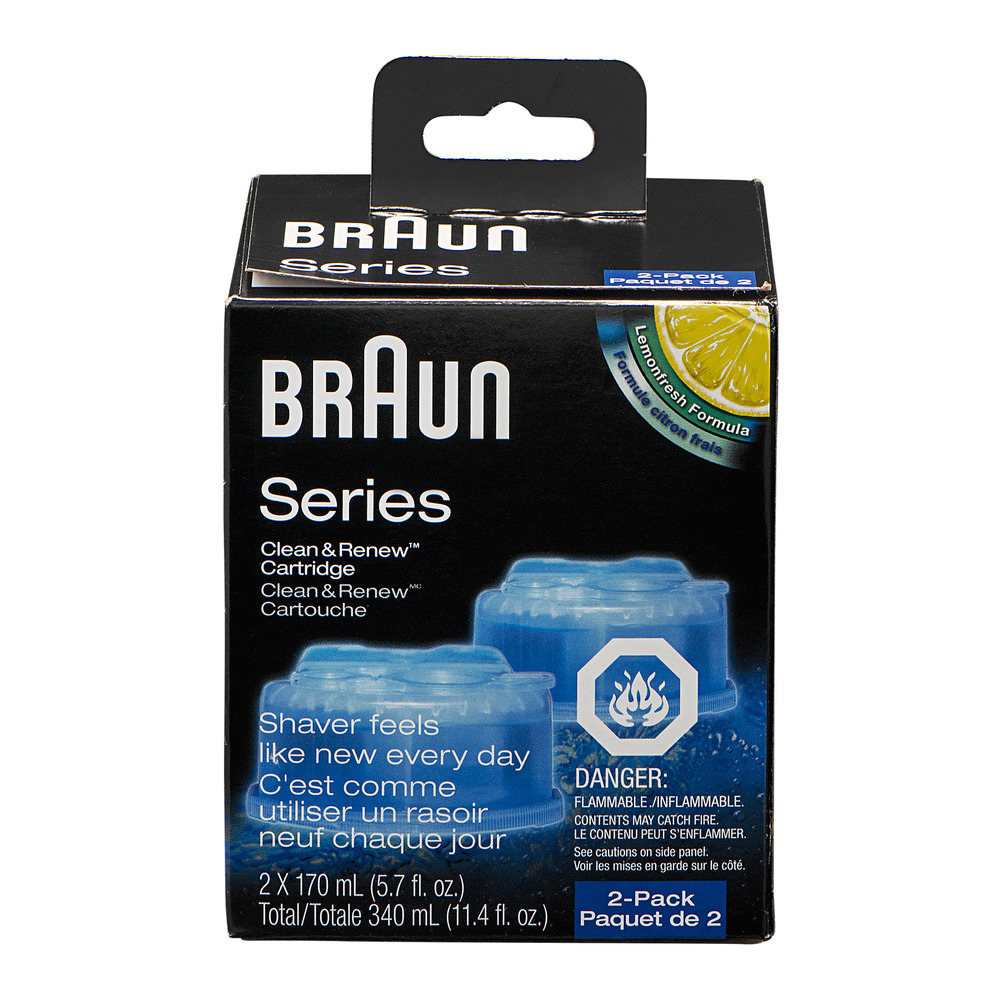 Braun Series Clean & Renew Cartridge - 2 CT