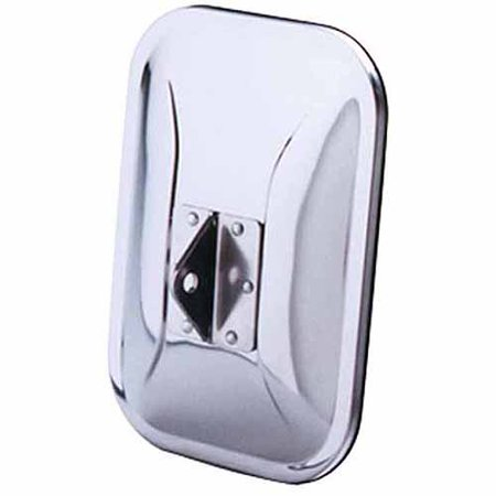 Cipa Universal Oe Camper Style Replacement Mirror Head  Stainless Steel