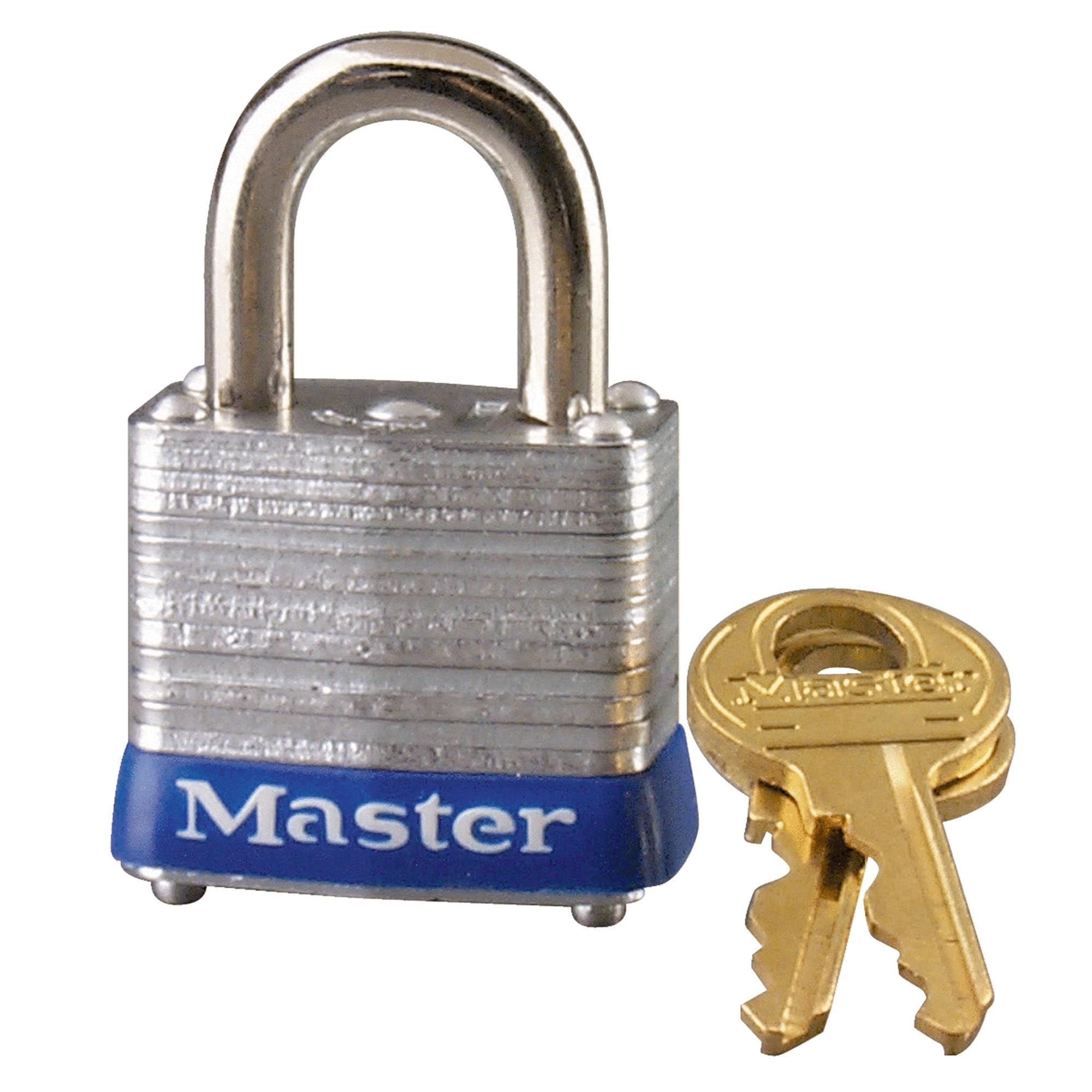 Master Lock 1-1/8 In. Wide 4-Pin Tumbler Padlock