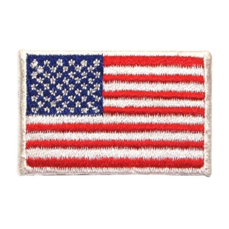 ID 1048 USA American Flag Patch Patriotic Symbol Embroidered Iron On (Applique Embroidered Flag)