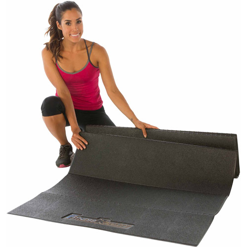 Fitness Reality Water-Resistant Exercise Equipment Mat, Black