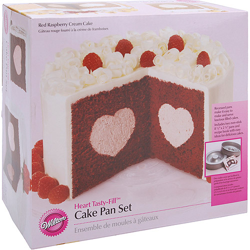 "Wilton Tasty-Fill 8.5"" Cake Pan Set, Heart 2105-157"