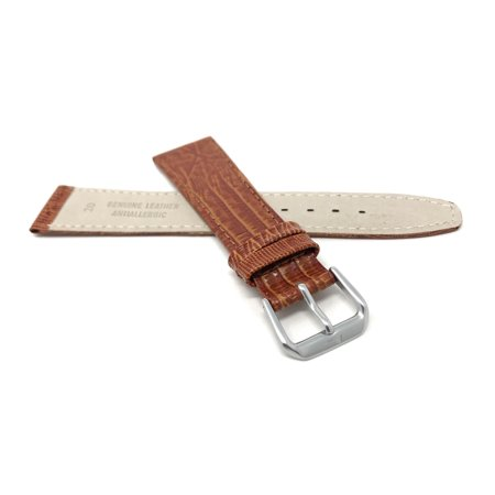 20mm Womens', Slim, Lizard Style, Leather Watch Band Strap - image 3 of 7